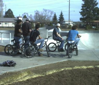 Pictures of local BMXer's during the grand opening ceremony on May 27, 2006
