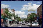 A shot of downtown Flagstaff on a summer afternoon - Looking North